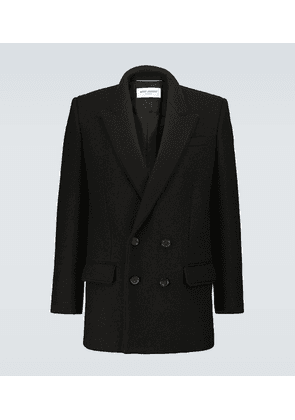 Wool and mohair short coat