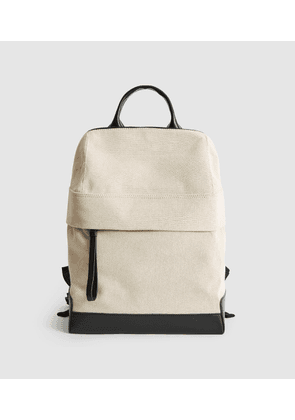 Reiss Albion - Canvas Backpack in Off White, Womens