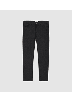 Reiss Marina - Tapered Slim Fit Jersey Stretch Jeans in Indigo, Mens, Size 28S