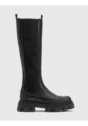 Ganni High Chelsea Leather Boot