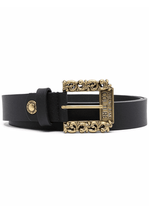 Versace Jeans Couture leather buckle belt - Black
