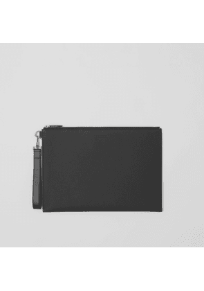 Burberry Large Grainy Leather Zip Pouch
