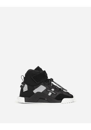 Dolce & Gabbana Shoes (24-38) - Technical fabric NS1 high-top sneakers Black/White male 30