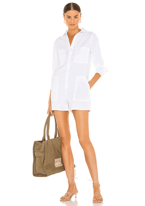 Frank & Eileen Ireland Playsuit in White. Size S.