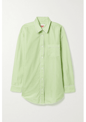 Solid & Striped - The Oxford Striped Cotton-blend Tunic - Light green