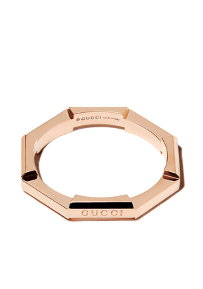 Gucci 18K rose gold Link to Love ring - Pink