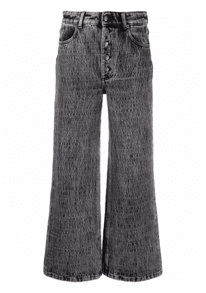 8pm mid-rise wide-leg jeans - Grey