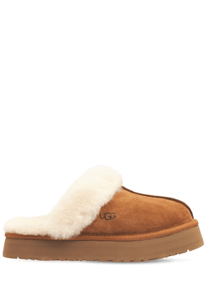 25mm Disquette Suede & Shearling Mules