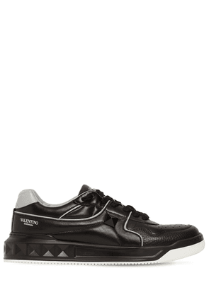 Mid-top Leather Sneakers W/studs