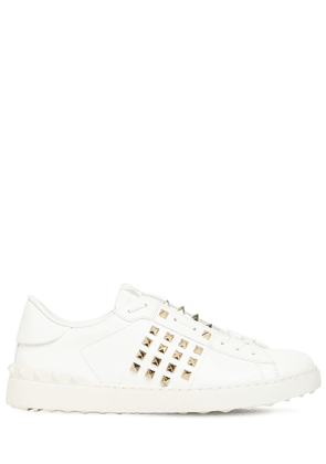 Open Studs Leather Sneakers