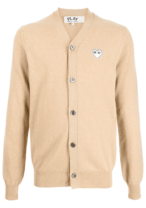 Comme Des Garçons Play embroidered-logo wool cardigan - Brown