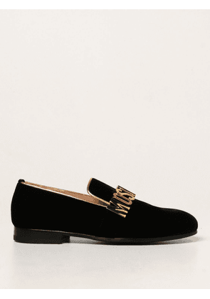 Moschino Couture velvet loafers with logo