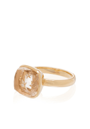 Foundrae 18kt yellow gold diamond cocktail ring