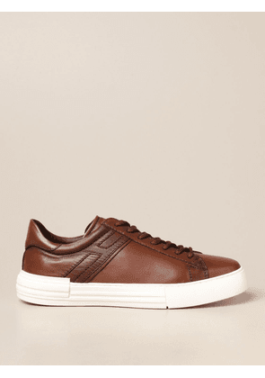 Hogan trainers in leather with elongated H