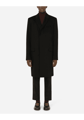 Dolce & Gabbana Collection - Cashmere and wool velour coat Black male 46