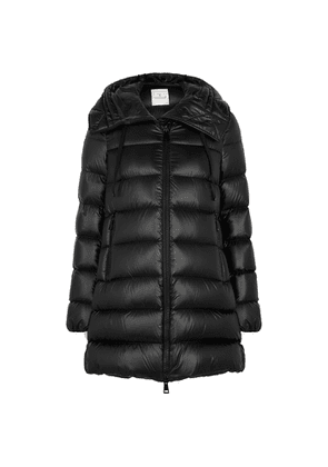 Moncler Suyen Black Quilted Shell Coat