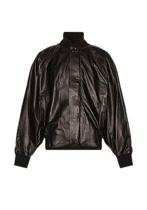 Fear of God Leather Bomber in Black - Black. Size XL (also in ).