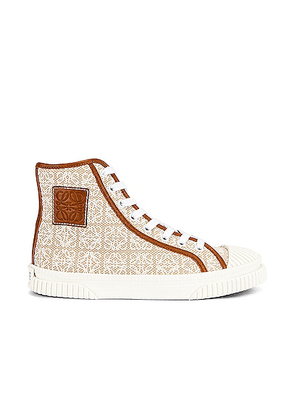 Loewe High Top Sneaker in Natural & White - Beige. Size 36 (also in 39, 40, 41).