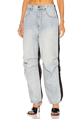 Alexander Wang Pack Mix Hybrid Tapered in Bleach & Black - Blue. Size 25 (also in 28).