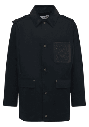 Cotton Drill Parka W/leather Patch