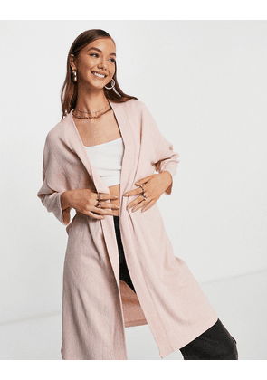 Only diana long-line jersey cardigan in rose-Pink