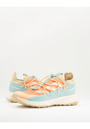 adidas Outdoors Terrex Voyager trainers in mint and orange-Green