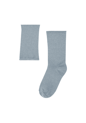 Cashmere and silk knit socks