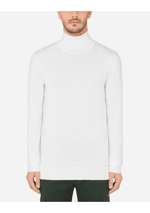Dolce & Gabbana Collection - Wool turtle-neck sweater WHITE male 48