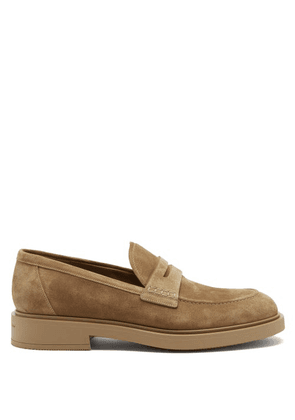 Gianvito Rossi - Harris Suede Loafers - Mens - Tan