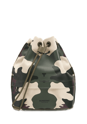 Phoebe Cotton & Leather Camouflage Pouch