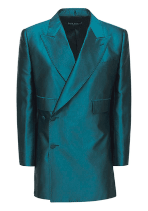 Shantung Double Breasted Jacket