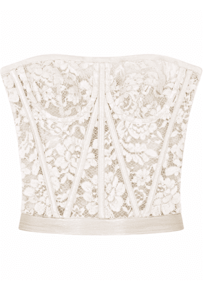 Dolce & Gabbana lace bustier top - White