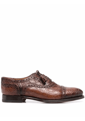 Gucci brogue-detailing lace-up shoes - Brown
