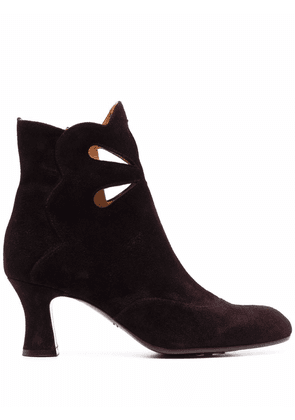 Chie Mihara Aura cut-out suede boots - Red