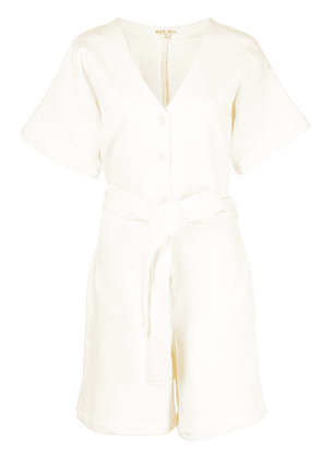 Alex Mill French Terry cotton playsuit - Neutrals