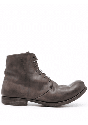 A Diciannoveventitre D2 horse leather ankle boots - Brown