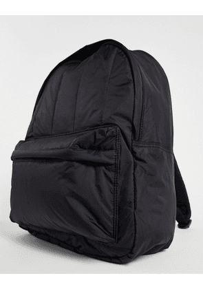 ASOS DESIGN padded backpack in black with contrast zip pulls