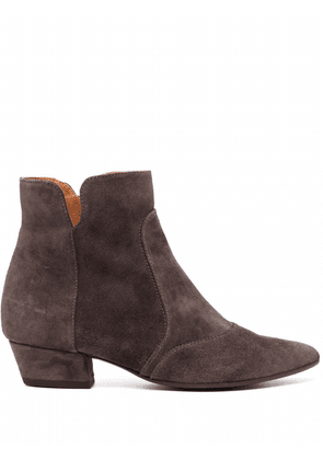 Chie Mihara Rocel suede Western-style boots - Grey