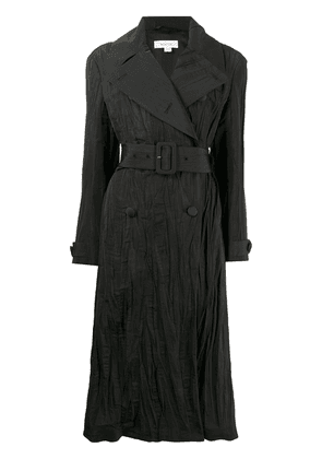 Beaufille crinkled double-breasted trench coat - Black