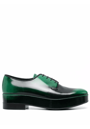 Prada lace-up leather derby shoes - Green