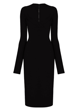 Dolce & Gabbana sweetheart-neck fitted dress - Black