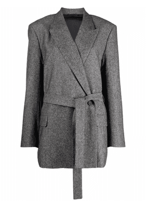 Acne Studios double-breasted belted jacket - Grey