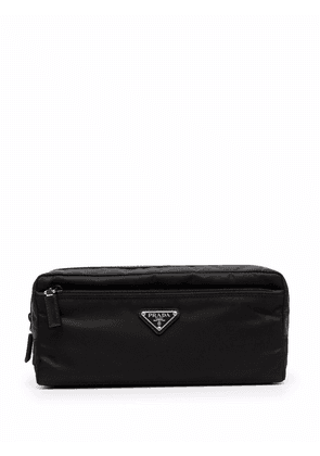 Prada Re-Nylon and leather travel pouch - Black