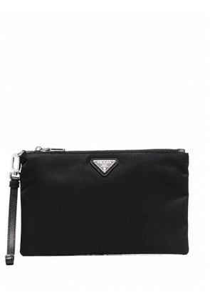 Prada Re-Nylon and leather pouch - Black