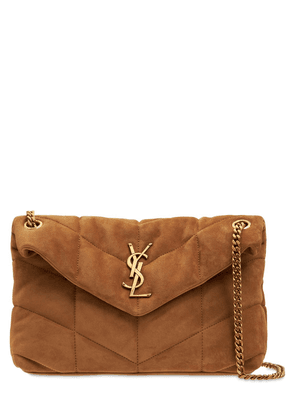 Small Loulou Suede Shoulder Bag