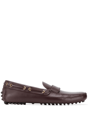 Car Shoe classic boat shoes - Red