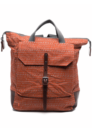 Ally Capellino logo-embroidered backpack - Orange