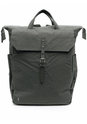 Ally Capellino Fin buckled backpack - Green