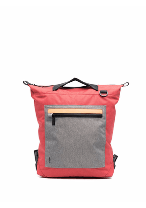 Ally Capellino colour-block zipped backpack - Red