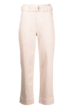 A.L.C. Flynn belted-waist trousers - Pink